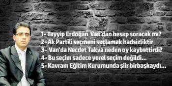 Tayyip Erdoğan Van'dan hesap soracak mı?